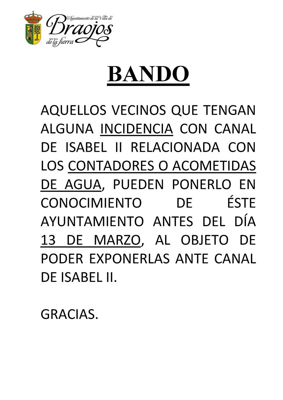 BANDO INCIDENCIAS CONTADORE