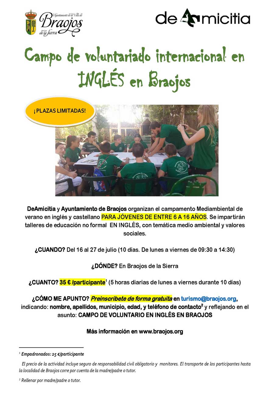 CARTEL PREINSCIPCION CAMPAMENTO INGLES